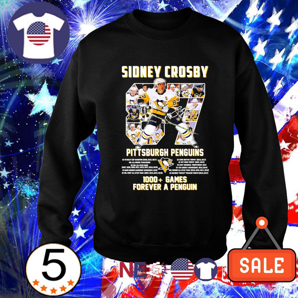 Pittsburgh Penguins Sidney Crosby 1000 games forever a Penguin s sweater