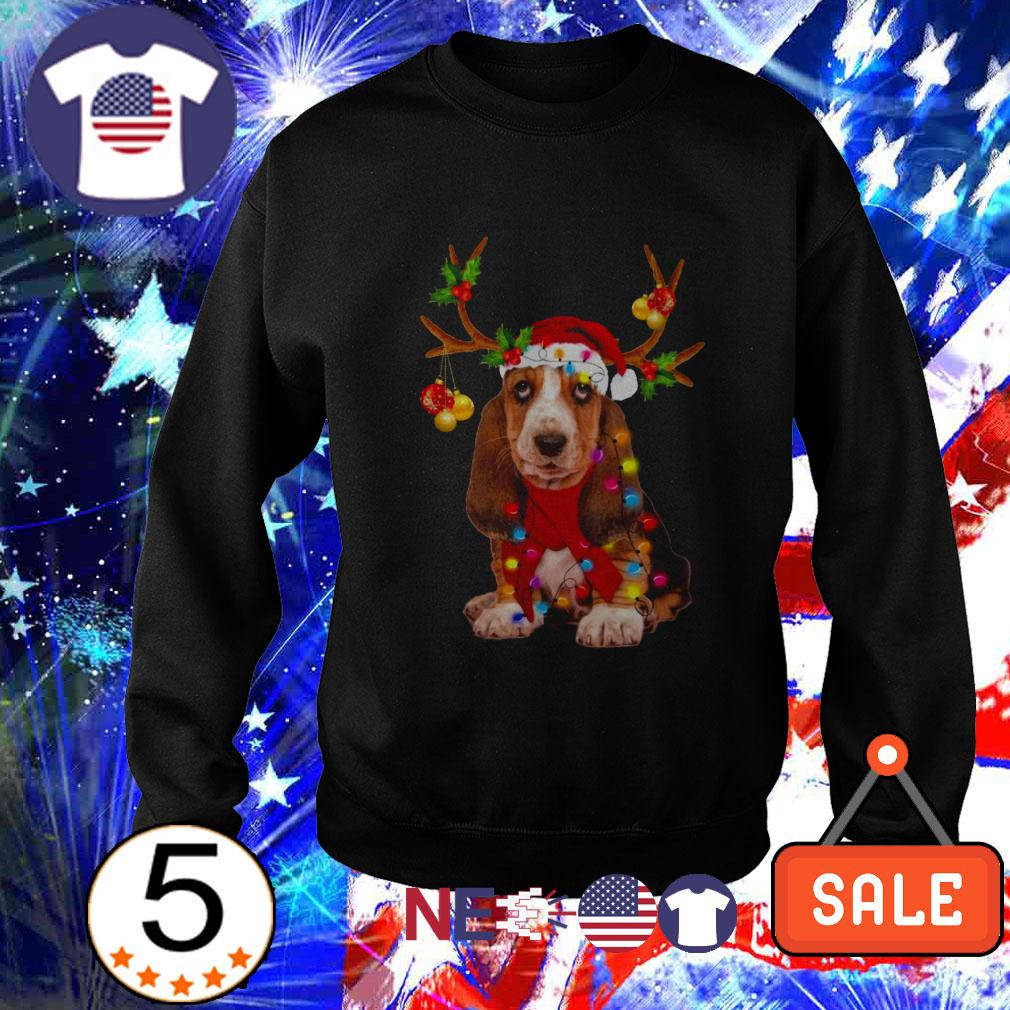Basset Hound gorgeous reindeer Christmas sweater