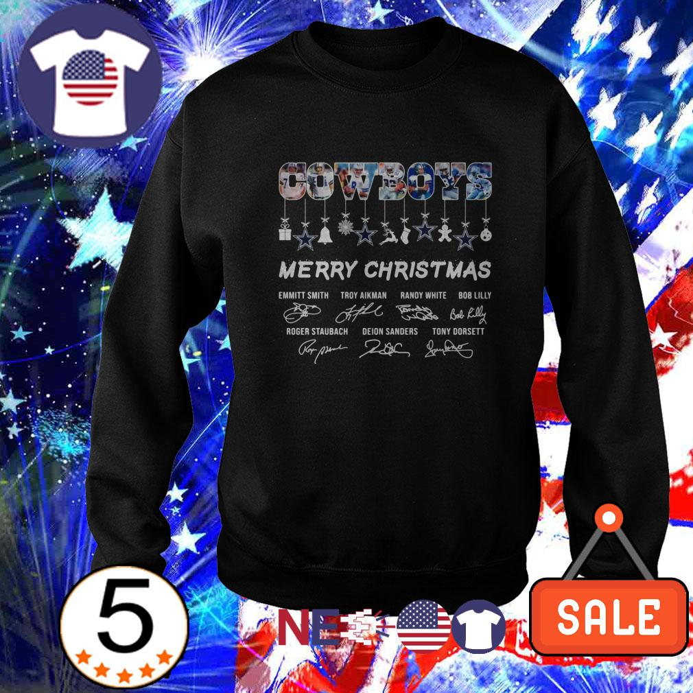 Dallas Cowboys Merry Christmas signature sweater