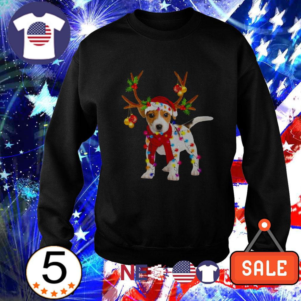 Jack Russell gorgeous reindeer Christmas sweater