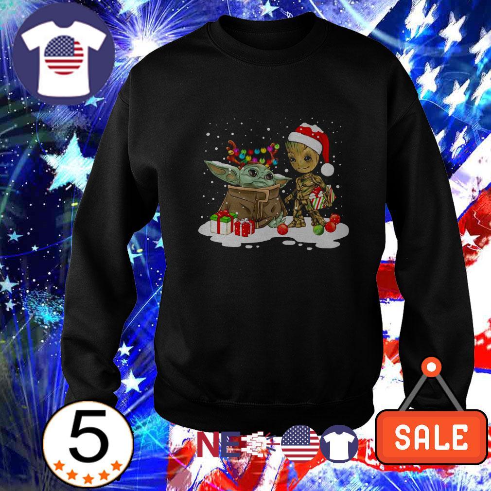 Yoda and Groot Santa Christmas sweater