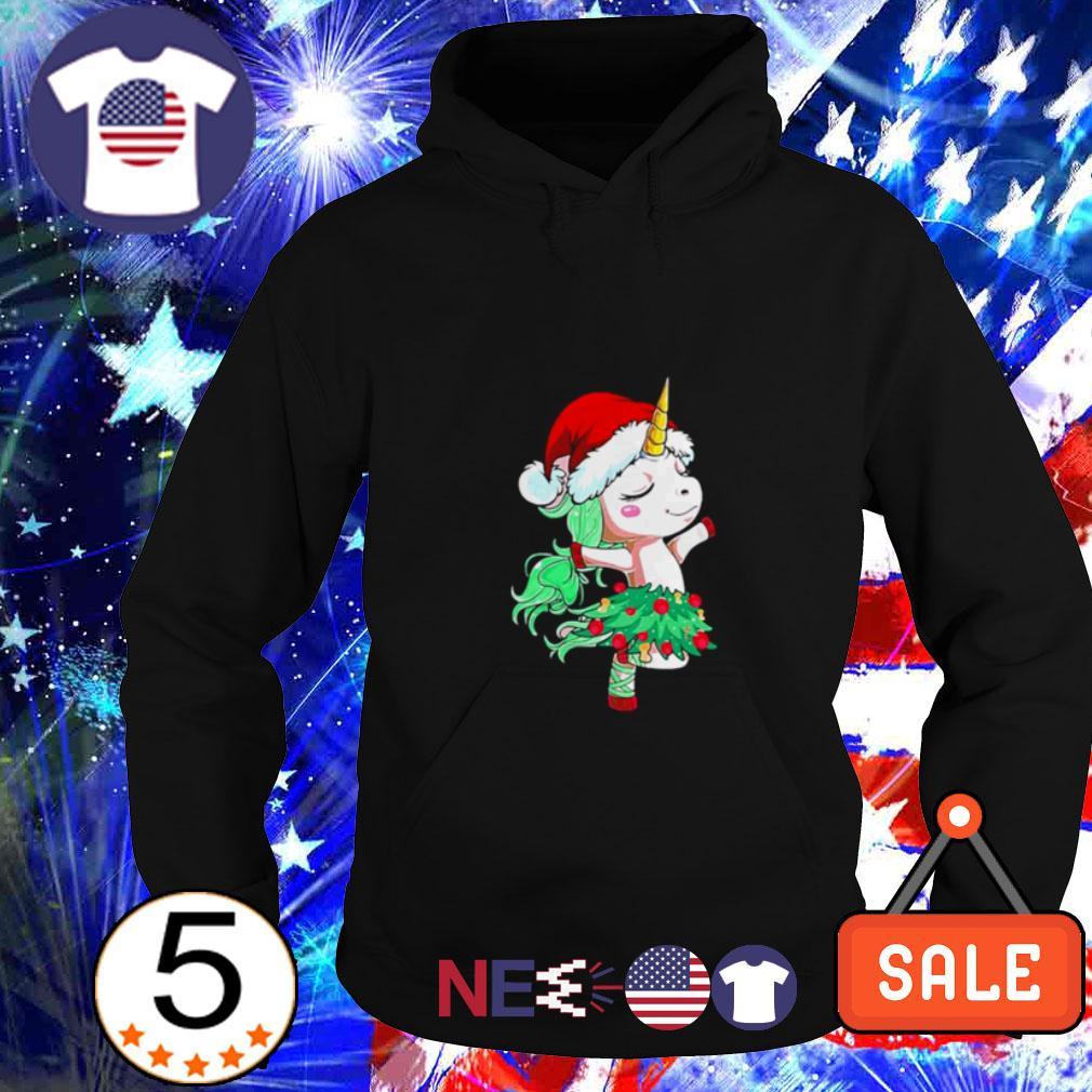 Santa Unicorn dancing Hoodie