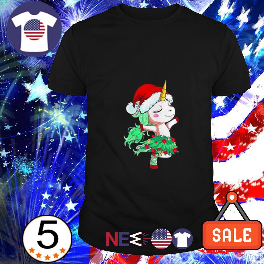 Santa Unicorn dancing shirt