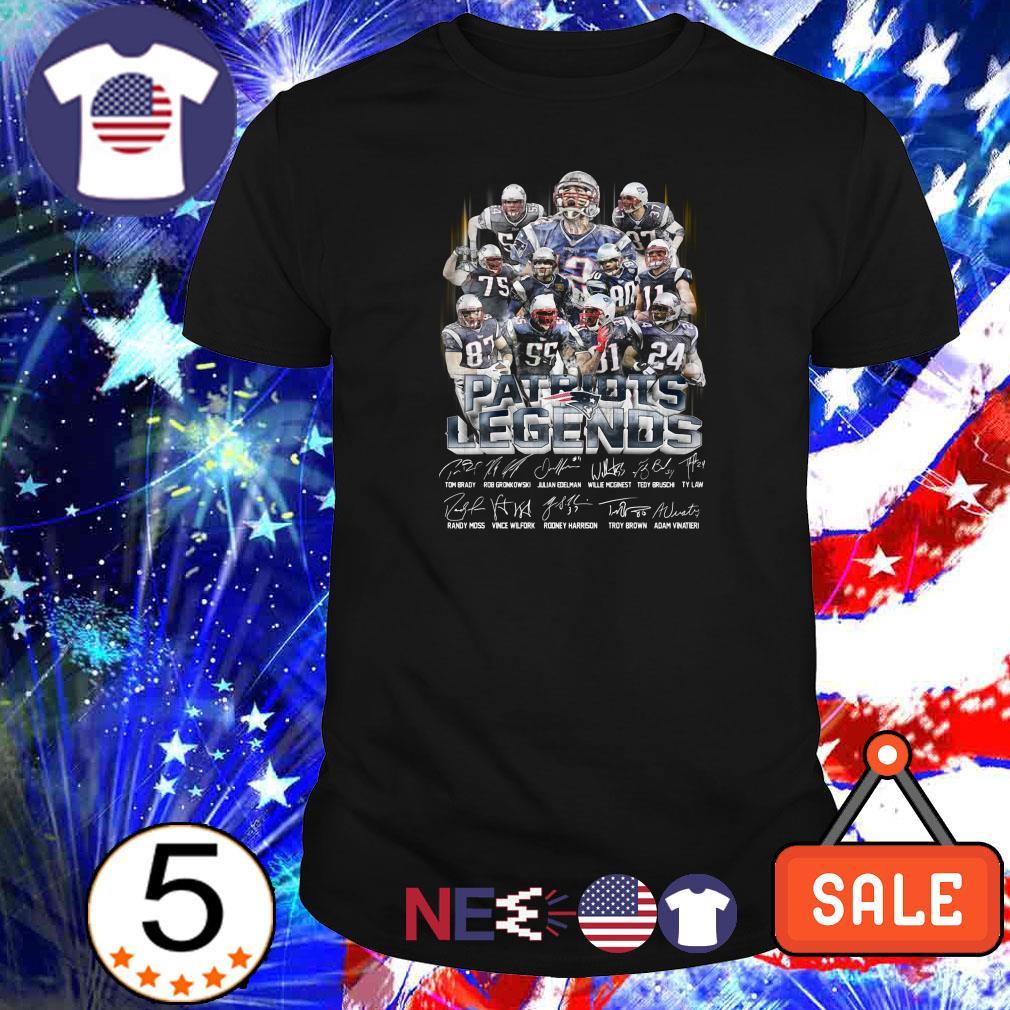 Patriots Legends team players signatures shirt