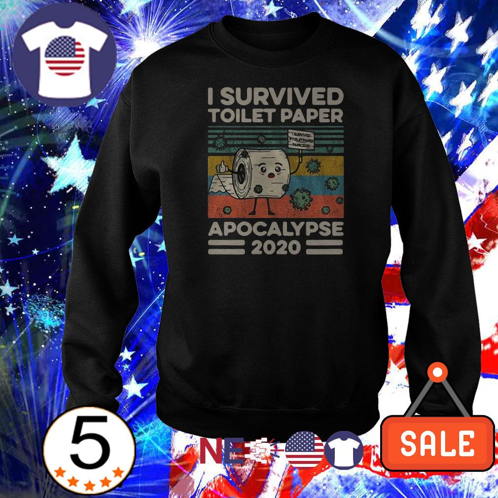 I survived toilet paper apocalypse vintage shirt