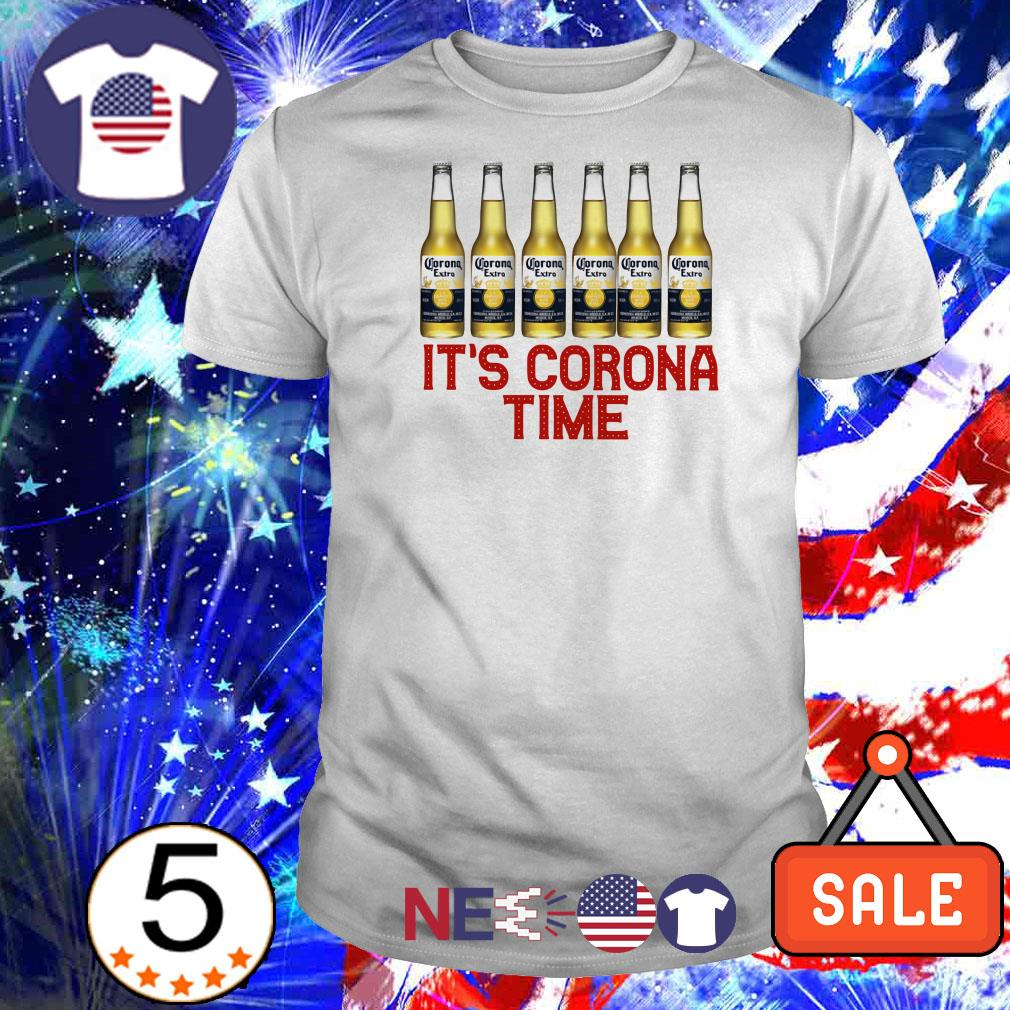 Corona extra it's corona time covid-19 shirt