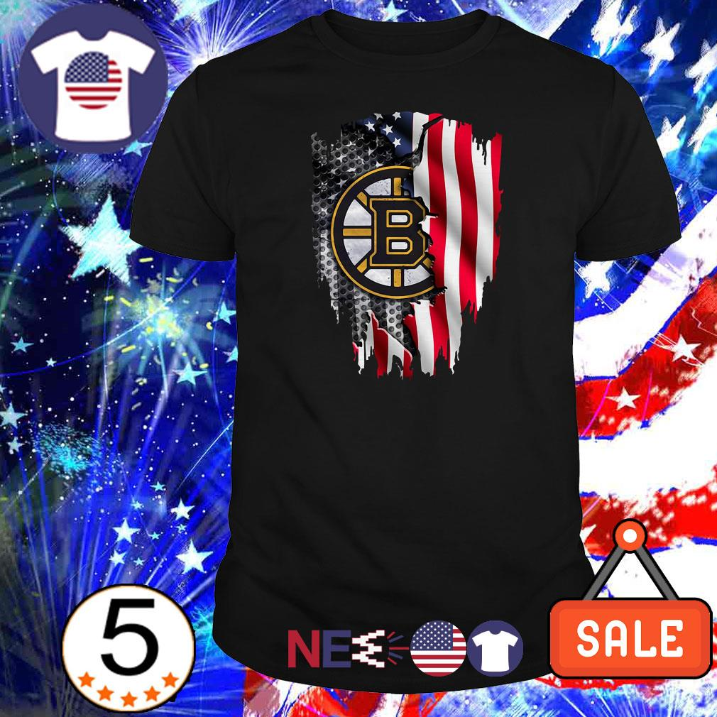 Boston Bruins American Flag shirt