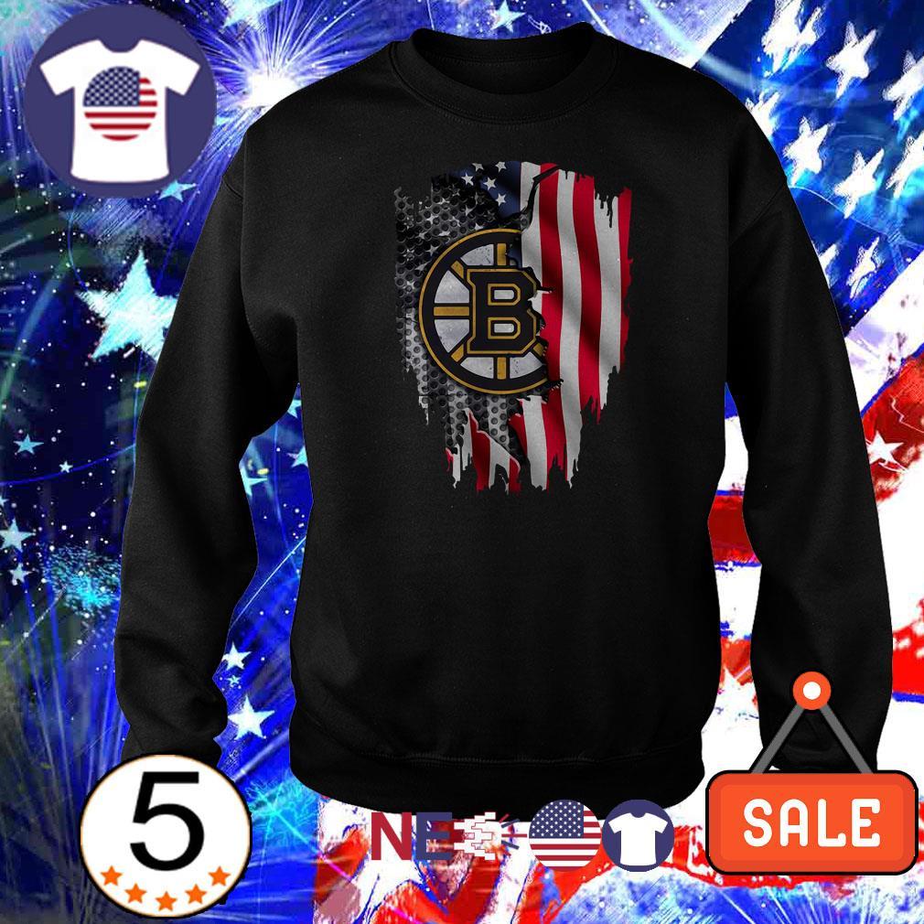 Boston Bruins American Flag shirt