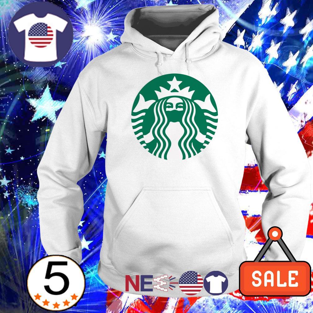 Starbucks Queen wearing mask shirt