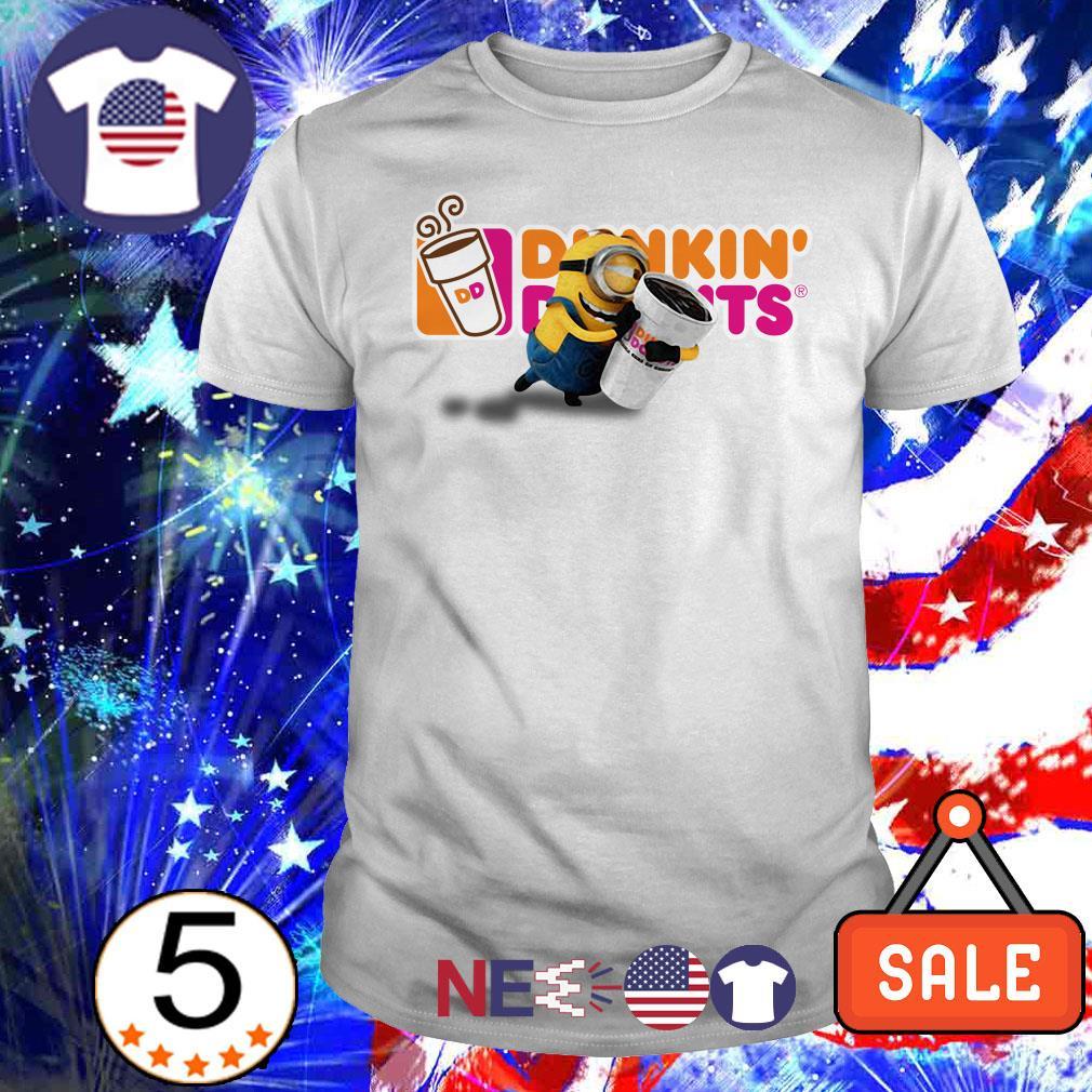 Minions hug Dunkin' Donuts shirt