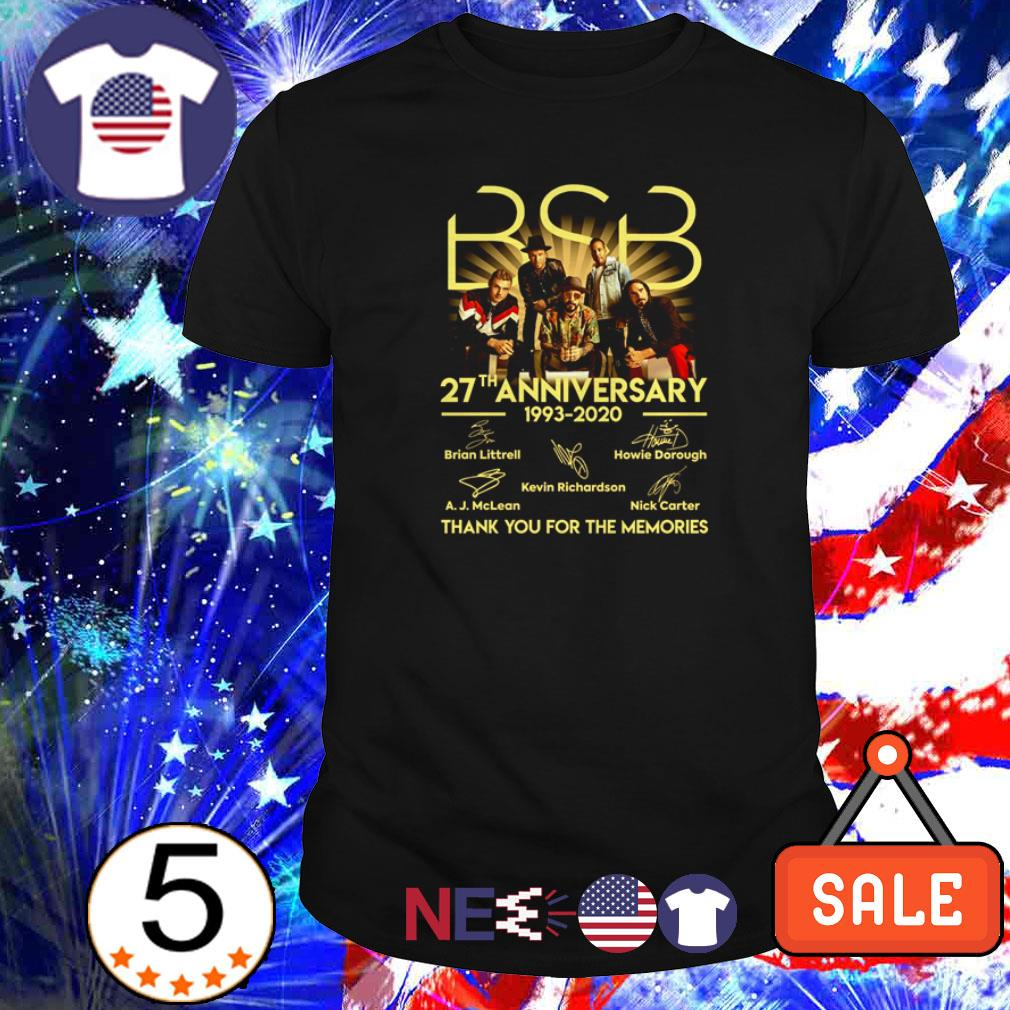 BSB 27th anniversary 1993 2020 thank you for the memories shirt