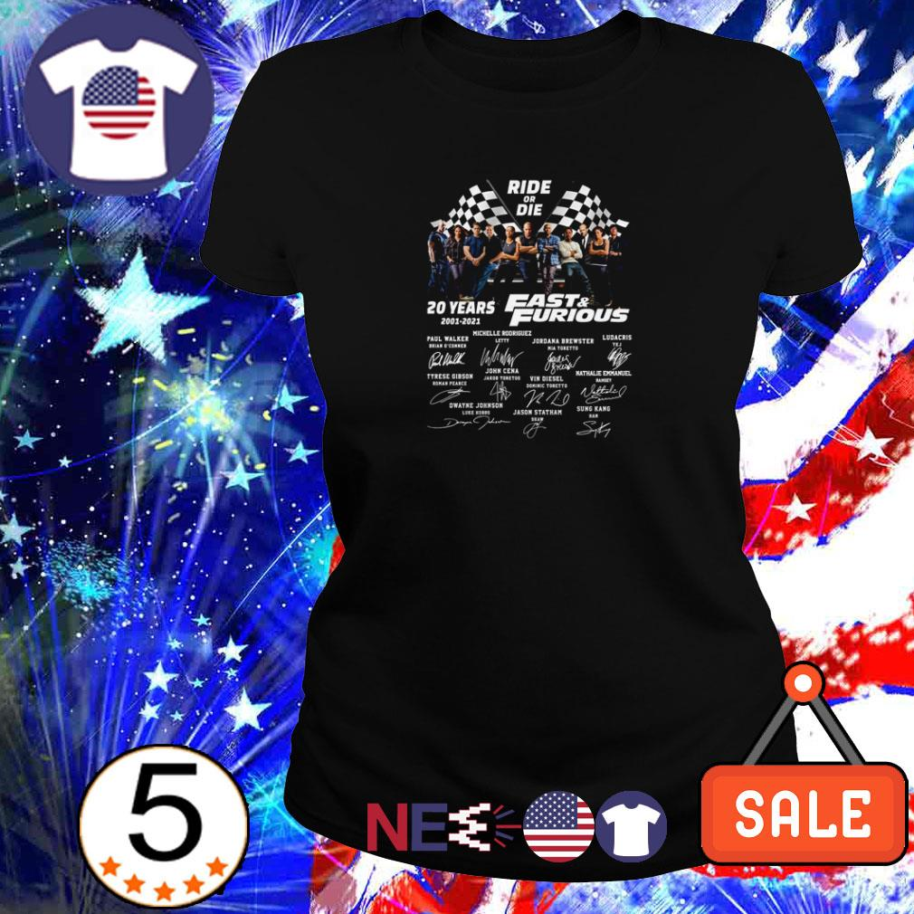 Ride or die 20 years of Fast and Furious 2003 2023 shirt