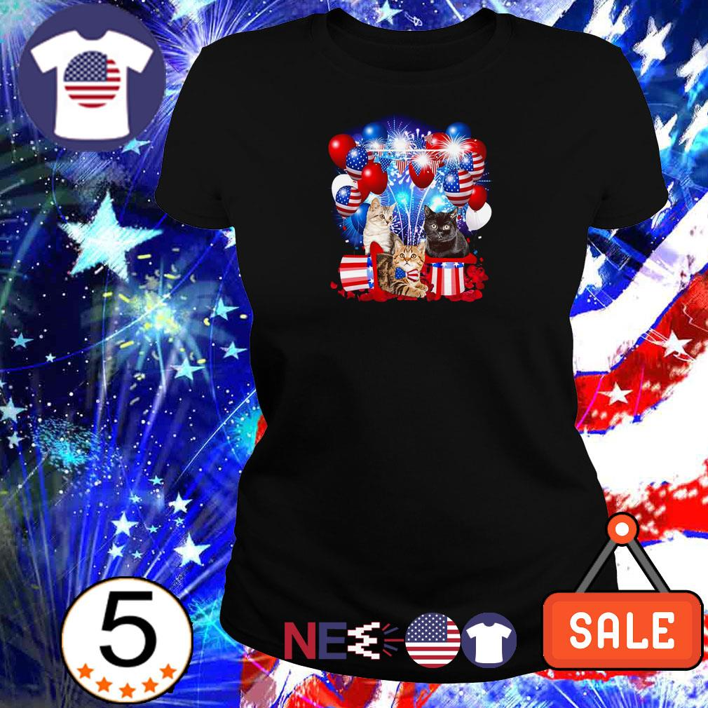 Cat American Flag Independence day shirt