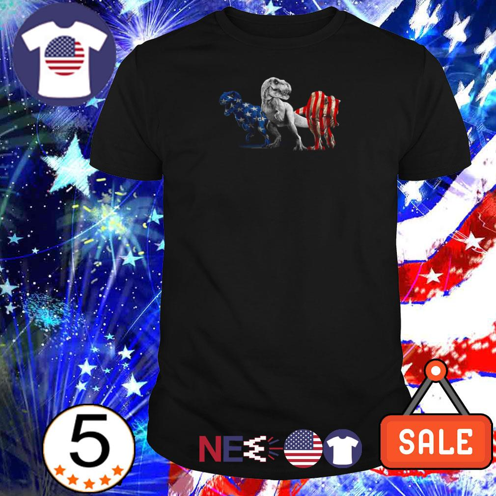 Trex Dinosaur American Flag 4th Of July shirt