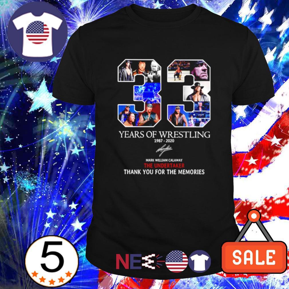 33 years of Wrestling 1987 2020 signature shirt
