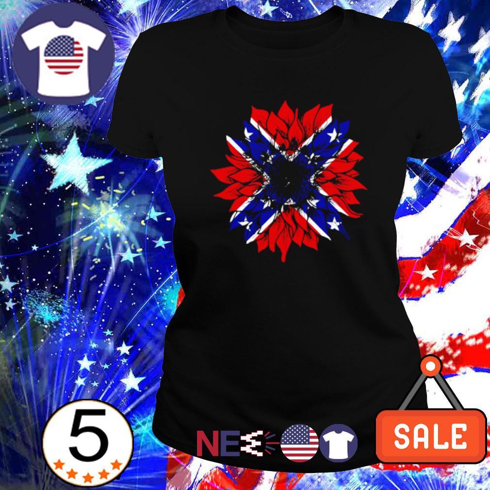 American flag Redneck Sunflower s ladies tee