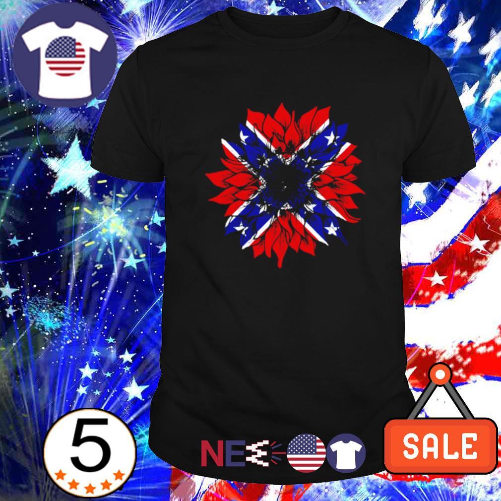 American flag Redneck Sunflower shirt