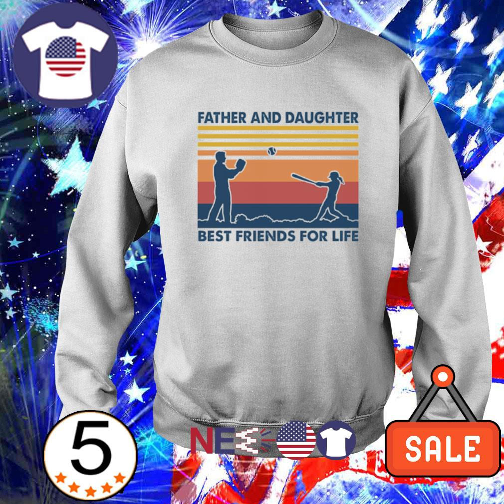Softball Father and Daughter best friends for life vintage s sweater