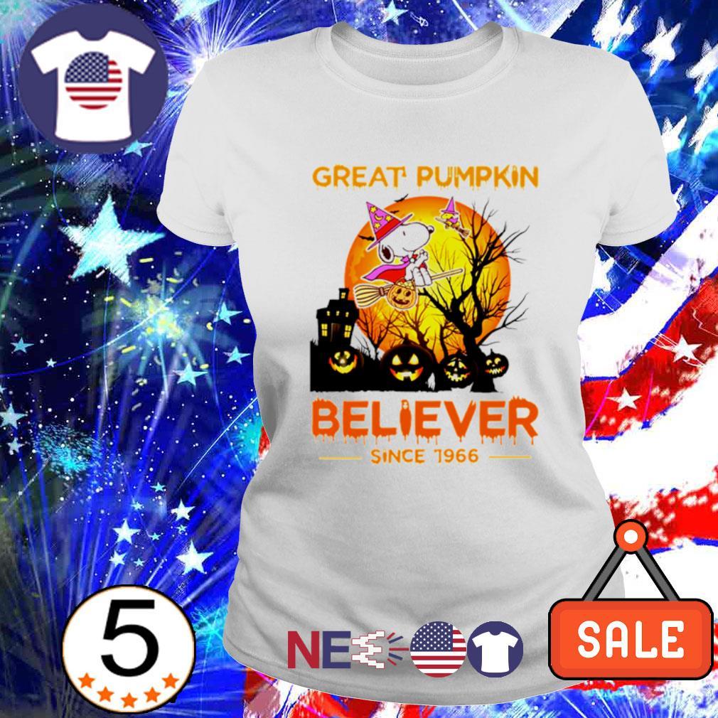Snoopy great pumpkin believer since 1966 Halloween s ladies tee