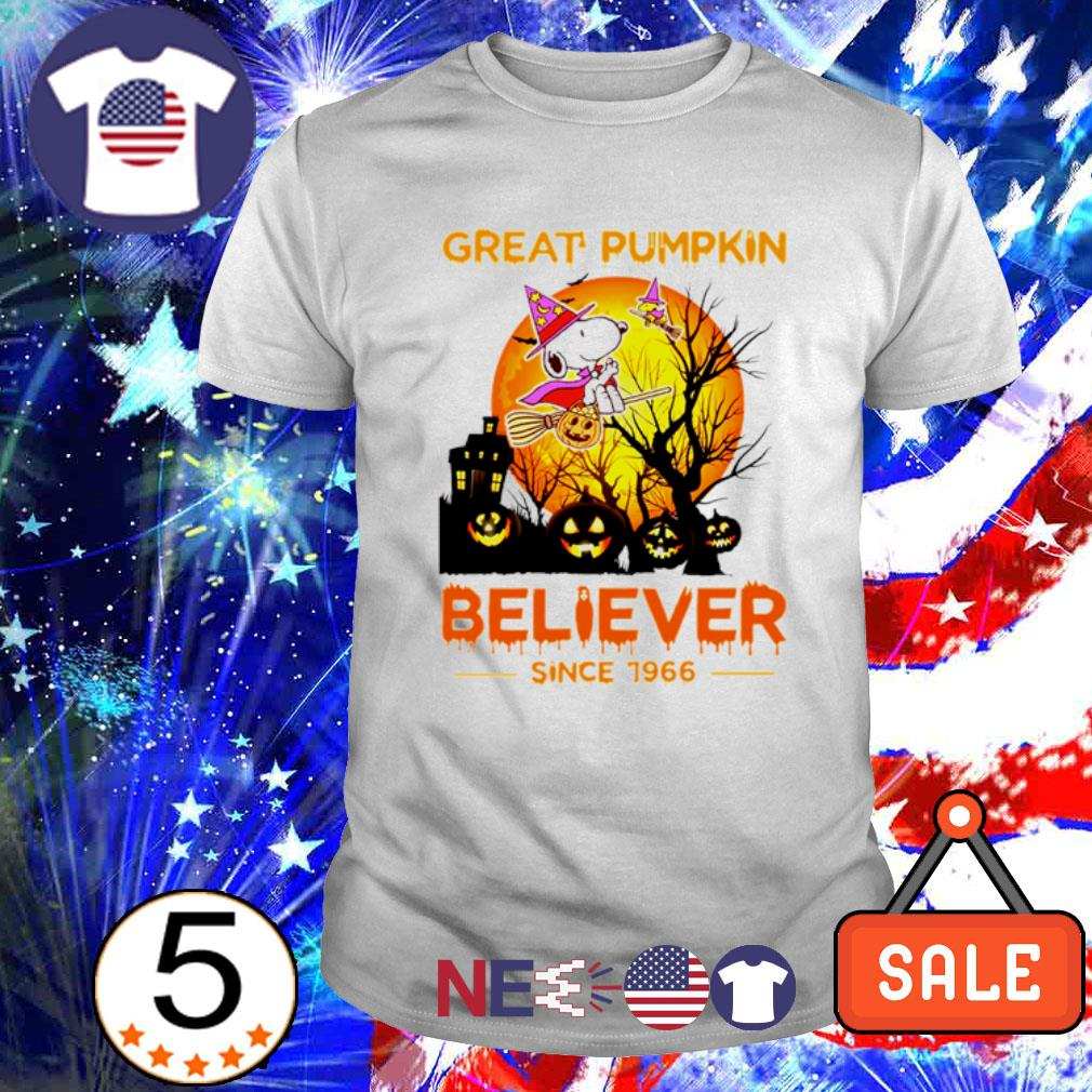 Snoopy great pumpkin believer since 1966 Halloween shirt