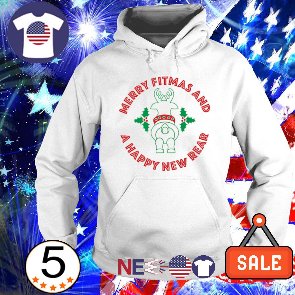 Rangifer Tarandus merry Fitmas and a Happy New Rear s hoodie