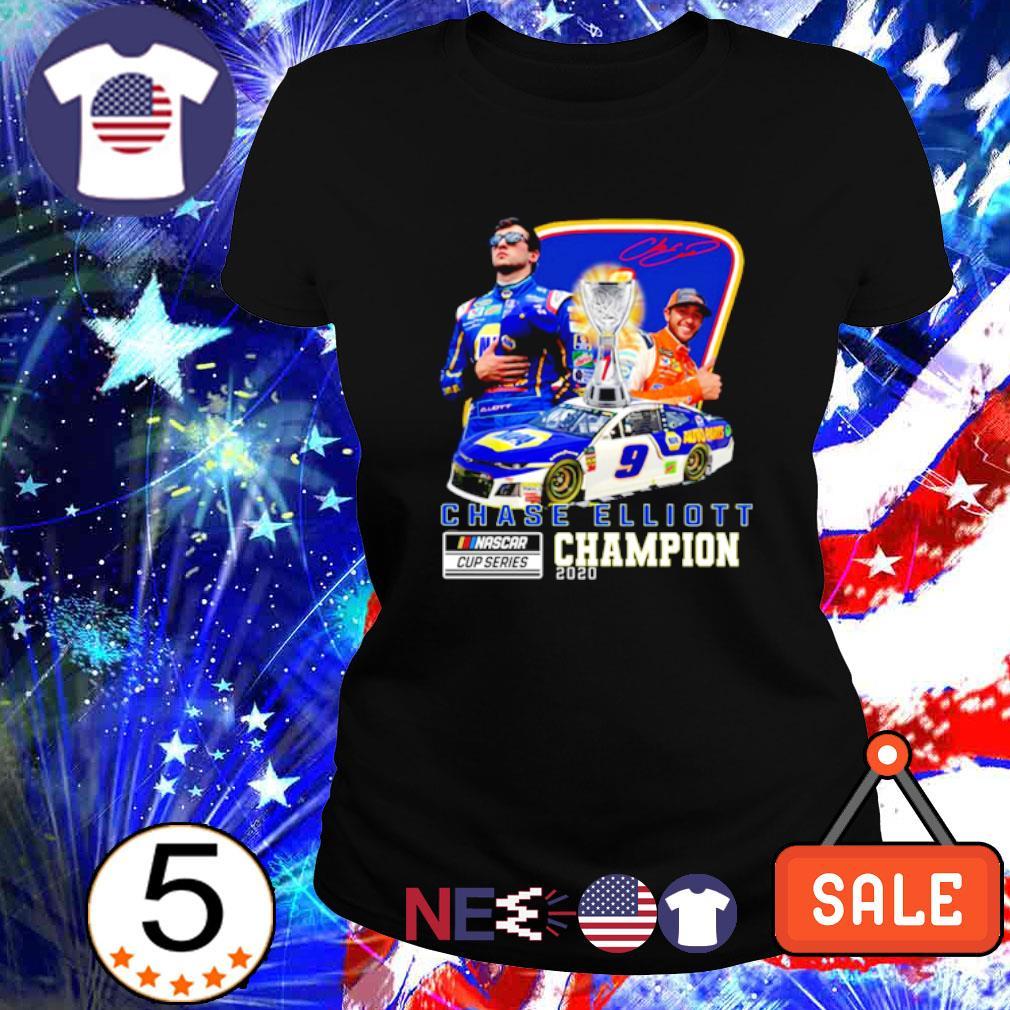 Chase Elliott Nascar cup series champion 2020 signature s ladies tee