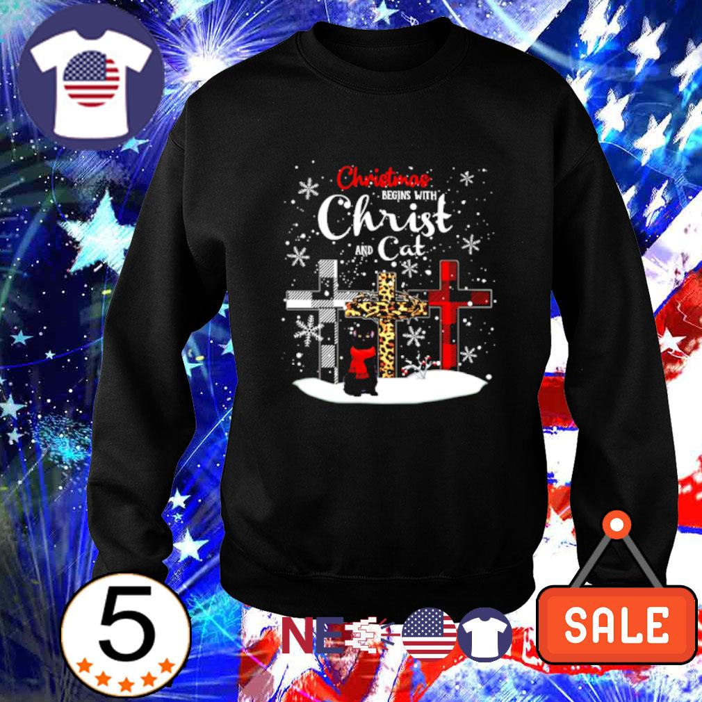 Christmas begins with Christ and cat s sweater