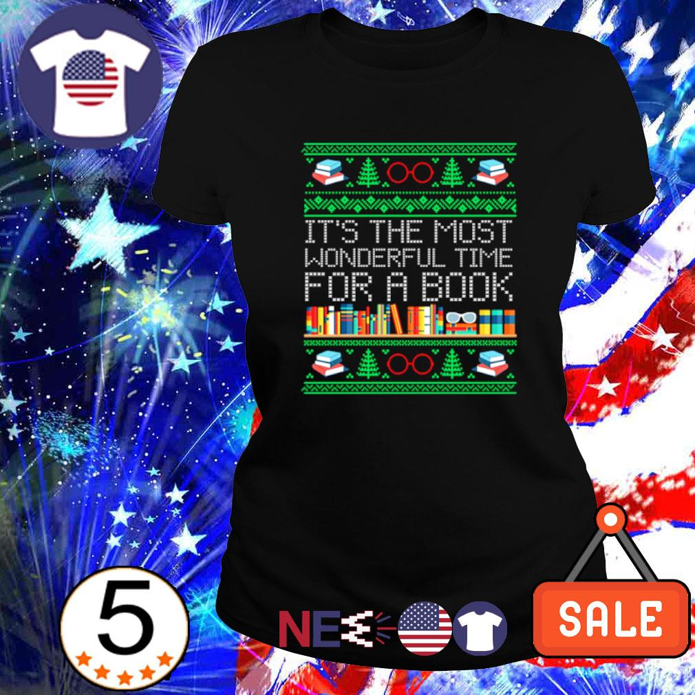 Christmas it's the most wonderful time for a book s ladies tee