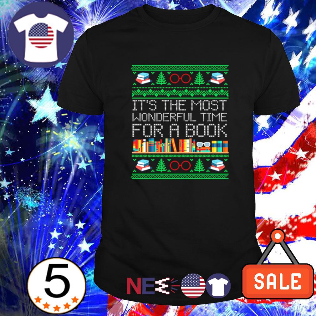 Christmas it's the most wonderful time for a book shirt