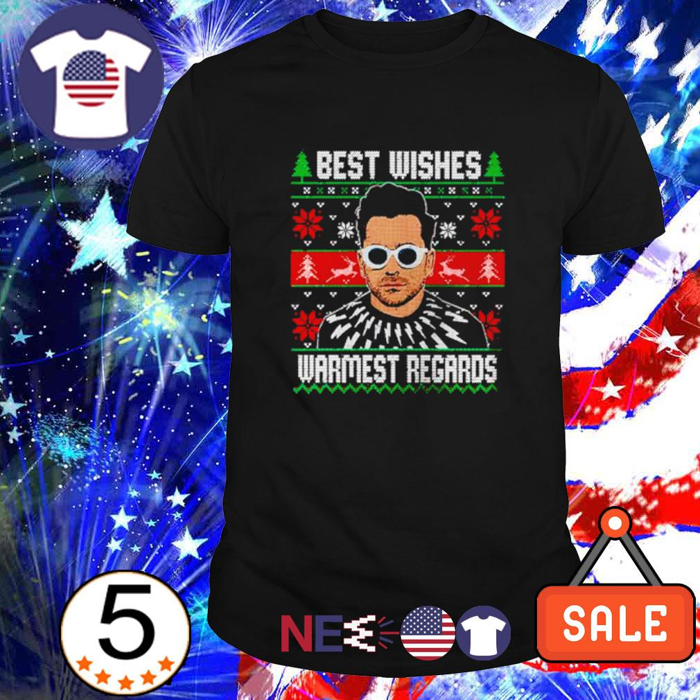 David Rose best wishes warmest regards ugly Christmas shirt