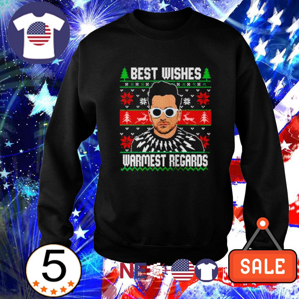David Rose best wishes warmest regards ugly Christmas s sweater