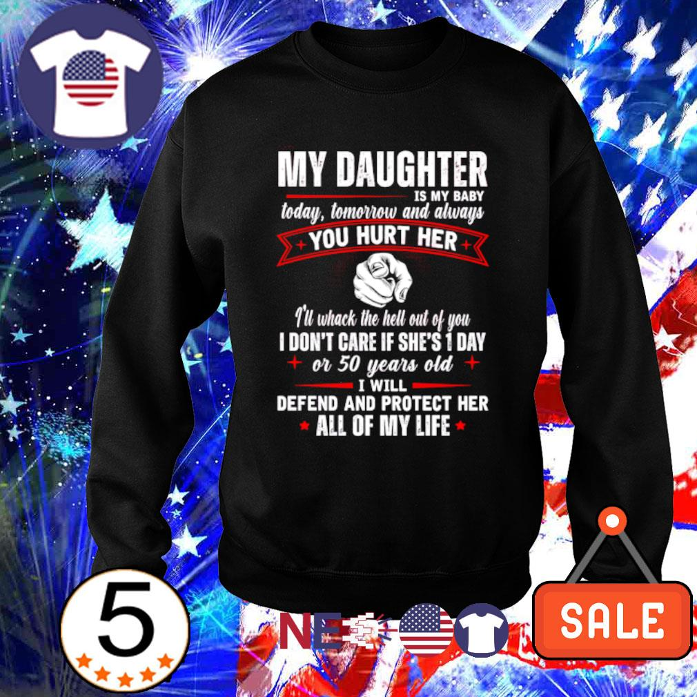 My Daughter is my baby today tomorrow and always you hurt her s sweater