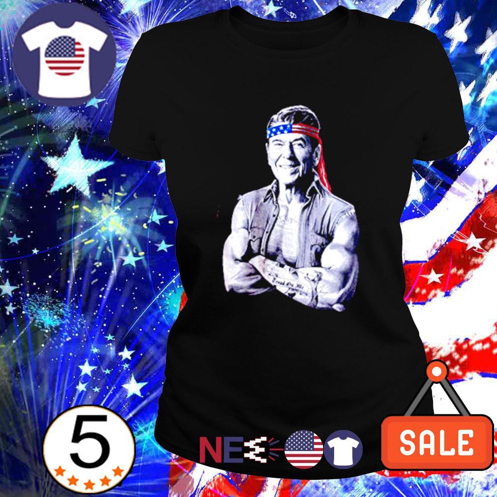 Ronald Reagan American icon epic conservative s ladies tee